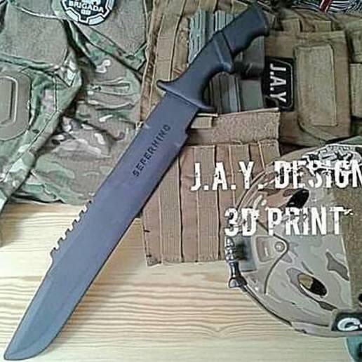 Download 3D printer files Predator knife, JAYCOMBATTECH