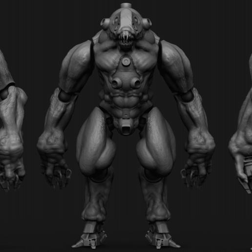 Jotun1.png Download STL file NECRONAUTS: Jotun action figure • 3D printing template, necronautsstudios