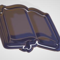 Descargar modelos 3D cortador para galletas y fondant libro, hebert1642