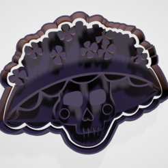 catrina.PNG Download STL file Day of the Dead cookie cutter and fondant set • Model to 3D print, hebert1642