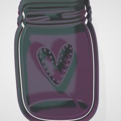 Download 3D printer designs cookie cutter and fondant jar, hebert1642