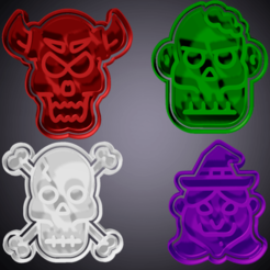 received_338688063840459.png Download STL file set of 10 Halloween fondant and cookie cutters 3 • 3D printer model, hebert1642