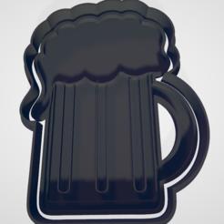 tarro.PNG Download STL file Cookie cutter or fondant jar of beer and tie • 3D print design, hebert1642