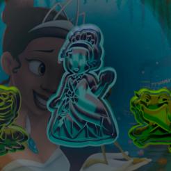 princesa y el sapo.png Télécharger fichier STL La Princesa y el Sapo : moules à biscuits et fondants • Objet pour imprimante 3D, hebert1642