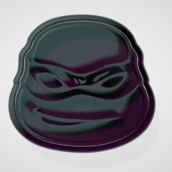 Télécharger STL tortue ninja moule à biscuit et fondant, hebert1642