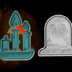 PACK 3.png Download STL file HALLOWEEN CUTTERS PACK 3 • Object to 3D print, hebert1642