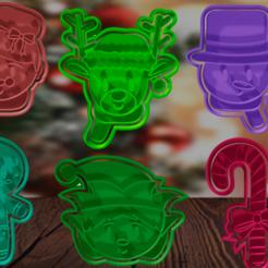 back.png Descargar archivo STL cortadores para galletas y fondant Navidad • Modelo para la impresora 3D, hebert1642