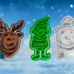 back.png Télécharger fichier STL jeu de 5 emporte-pièces et fondant de Noël 1 • Objet imprimable en 3D, hebert1642