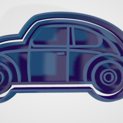 VOCHITO.PNG Download STL file cookie cutter and fondant vocho, vw • Template to 3D print, hebert1642