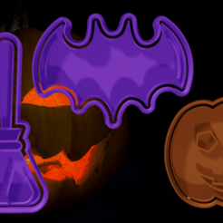 PACK 2.png Download STL file HALLOWEEN CUTTERS PACK 2 • 3D printable object, hebert1642