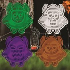 1.jpg Download STL file Halloween Cookie and Fondant Cutter Set 1 • 3D printing model, hebert1642