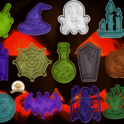 back.png Download STL file Super Pack 19 Halloween Cutters • 3D printing object, hebert1642