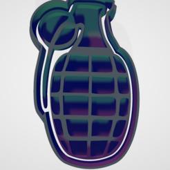 granada.PNG Download STL file set cookie cutters and military fondant • 3D printing template, hebert1642