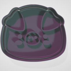 cerdito.PNG Download STL file Cookie-cutting and fondant animal set • 3D printing template, hebert1642