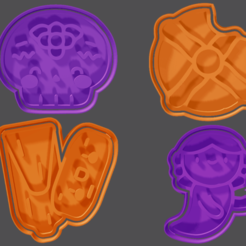 BACK 1.png Download STL file Day of the Dead cookie cutter and fondant Mexico • 3D print design, hebert1642
