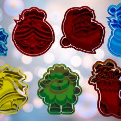 back.png Descargar archivo STL Set de cortadores y marcadores para galletas o fondant Navidad 3 • Plan de la impresora 3D, hebert1642