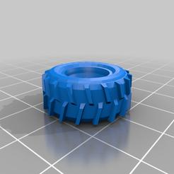 TractorGigaSingleOuter.png Télécharger fichier STL gratuit Gaslands Truck Tire + assortiment Duallie • Objet imprimable en 3D, conusa