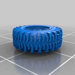 SuperSwamperV02.png Download free STL file Gaslands Super Swamper Wheel+Tire 13mm • Design to 3D print, conusa