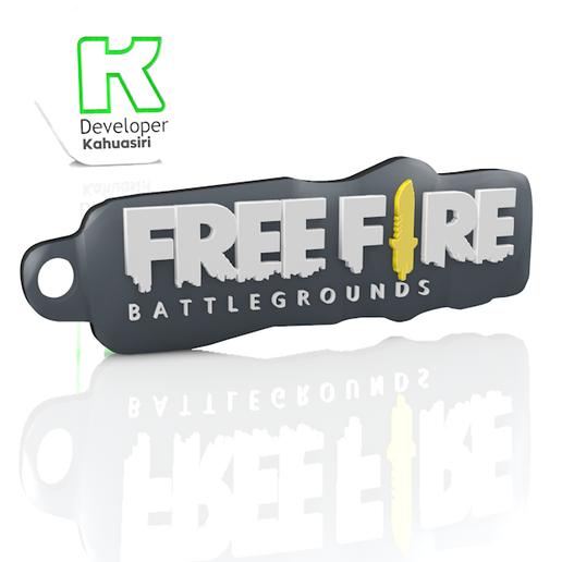 LLAVERO FREE.PNG Download free 3DS file Free fire key ring new STL • 3D printing model, ronaldocc13