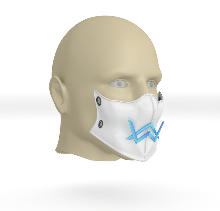 02.PNG Download free 3DS file Alan Walker coronavirus protection mask (COVID-19) MOD 2 #3DvsCOVID19 • Design to 3D print, ronaldocc13