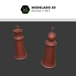 Download 3D printing models king and queen, ronaldocc13