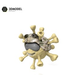 Download 3DS file Coronavirus (COVID-19) 2020 2021 • 3D printable template, ronaldocc13