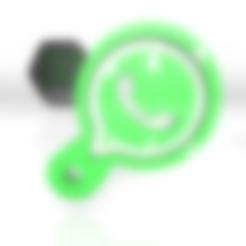 whatsapp.stl Download free 3DS file Whatsapp keychain digital media viral share • 3D printable model, ronaldocc13