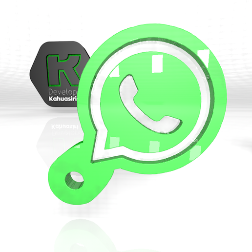 whatsa.PNG Download free 3DS file Whatsapp keychain digital media viral share • 3D printable model, ronaldocc13
