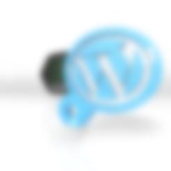 Download free 3DS file Wordpress keychain 2021 • Template to 3D print, ronaldocc13