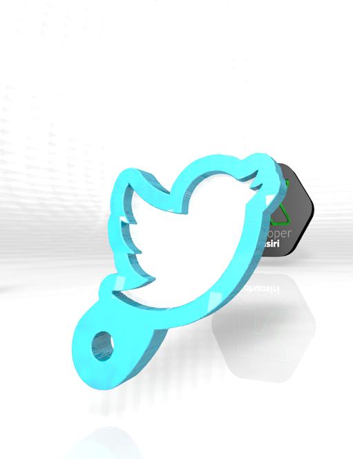 twit.PNG Download free 3DS file Twitter new on 2020 digital social media • 3D print object, ronaldocc13