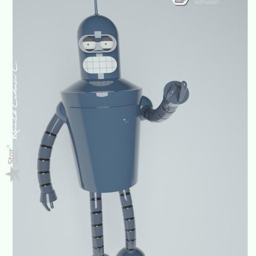 7 pub.jpg Télécharger fichier 3DS gratuit Blender Futurama 2020 personnage ICONICO viral • Plan pour imprimante 3D, ronaldocc13