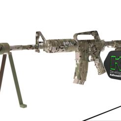 1.PNG Download 3DS file M4A1 multi-cam assault rifle plus texture • 3D print model, ronaldocc13