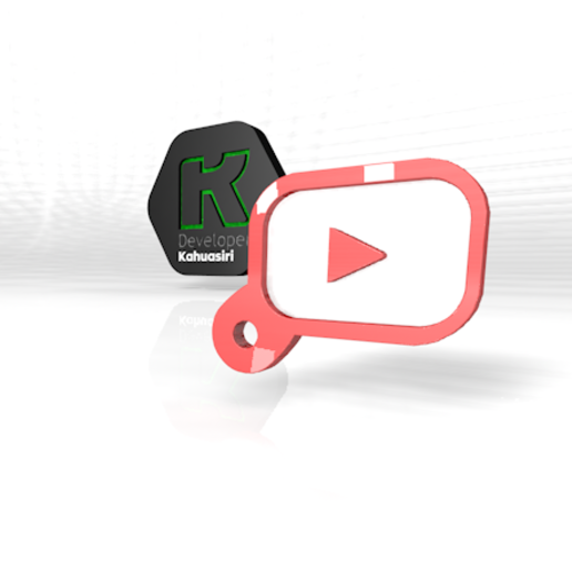 Download free 3DS file you tube Keychain house hand • 3D print model, ronaldocc13