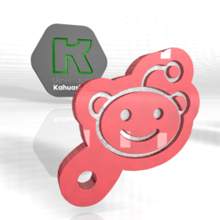 ret.PNG Download OBJ file reddit new key ring 2020 • 3D printer template, ronaldocc13