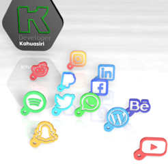 redes.PNG Download 3DS file Complete pack social network keychain new STL on routers novo new • Object to 3D print, ronaldocc13