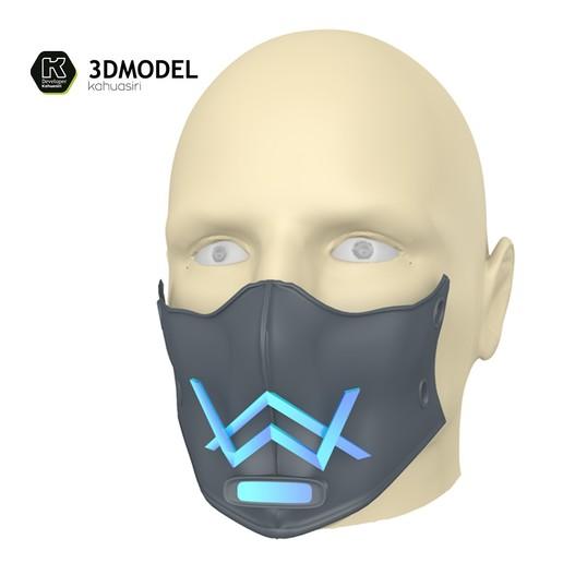6.jpg Download free 3DS file Alan Walker Coronavirus protection mask (COVID-19) MOD 1 #3DvsCOVID19 • 3D printer object, ronaldocc13