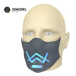 6.jpg Download free 3DS file Alan Walker Coronavirus protection mask (COVID-19) MOD 1 #3DvsCOVID19 • 3D printer object, ronaldocc13