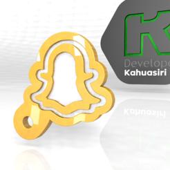 snat.PNG Download OBJ file Social Media Snapchat • 3D print design, ronaldocc13