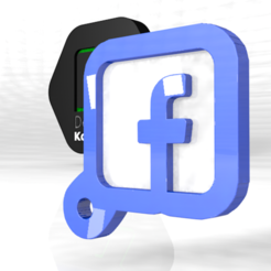 face.PNG Download OBJ file facebook portable keychain for everything • 3D print object, ronaldocc13