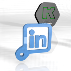 like.PNG Download OBJ file LinkedIn new viral 2020 keychain • 3D printing model, ronaldocc13