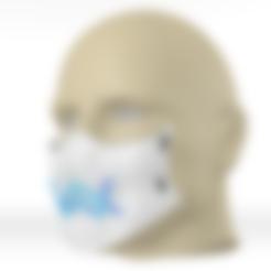 Télécharger STL gratuit Masque de protection contre le coronavirus Alan Walker (COVID-19) MOD 2 #3DvsCOVID19, ronaldocc13