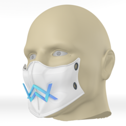 Download free STL files Alan Walker coronavirus protection mask (COVID-19) MOD 2 #3DvsCOVID19, ronaldocc13
