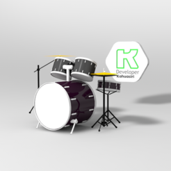 bateria 2.PNG Download 3DS file Drums for music • Object to 3D print, ronaldocc13
