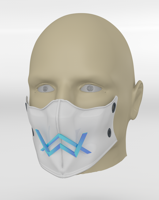 01.PNG Download free 3DS file Alan Walker coronavirus protection mask (COVID-19) MOD 2 #3DvsCOVID19 • Design to 3D print, ronaldocc13