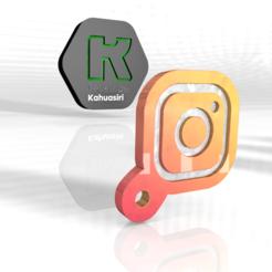 insta.PNG Download OBJ file Instagram Keychain 2020 new shot • 3D printer design, ronaldocc13