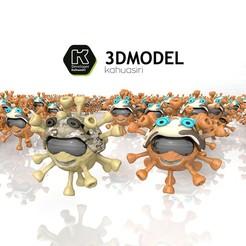 Download 3DS file Coronavirus (COVID-19) 2020 2021 New Custom Keychain #3DvsCOVID19 • 3D printing template, ronaldocc13