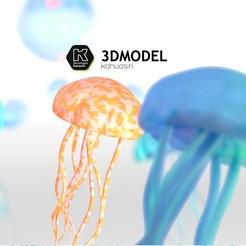 model 3d 1.jpg Télécharger fichier 3DS Méduses colorées 2020 • Design pour impression 3D, ronaldocc13