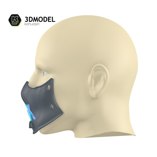 2.jpg Download free 3DS file Alan Walker Coronavirus protection mask (COVID-19) MOD 1 #3DvsCOVID19 • 3D printer object, ronaldocc13