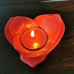 Descargar modelo 3D gratis titular de la vela romántica, derchrome