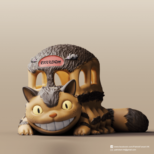 Download free 3D print files Catbus(My Neighbor Totoro), PatrickFanart